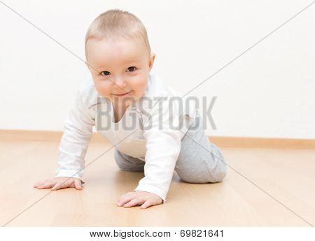 Happy Baby Crawling