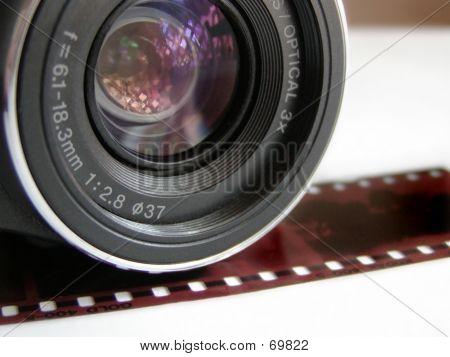 Lente de câmera W / filme