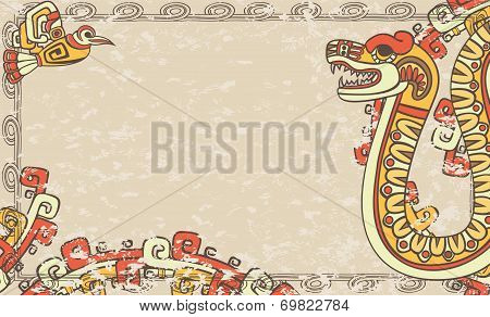 Horizontal background in the Aztec style
