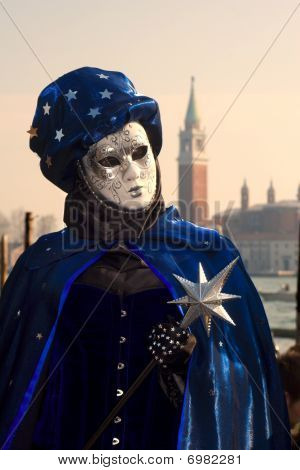 mask from venice carnival - evening