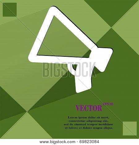 Mouthpiece. Flat modern web design on a flat geometric abstract background