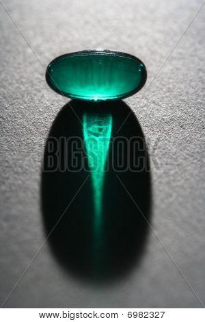 Green Capsule Pill.