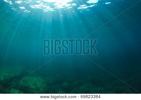 Underwater Ocean Background Photo