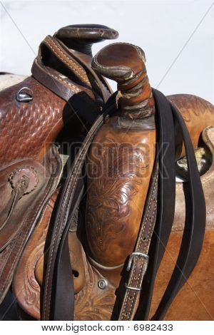 Detail Of Horse Saddles