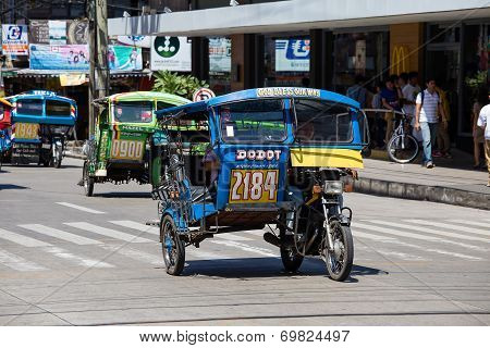 Tricycle Motor Taxi, Philippines