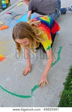 Chalk on the Walk