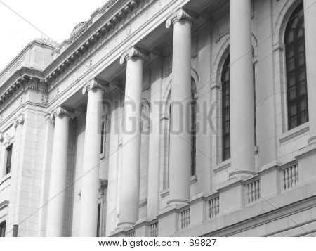 Building W/ Roman Columns