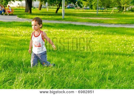 Boy On The Grass