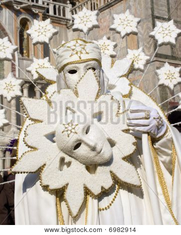 white mask from venice carnival