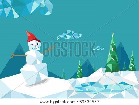 Nice Christmas Diamond Stylized Design Vector Horizontal EPS10