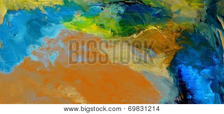 Nice large scale pano Painting on Canvas