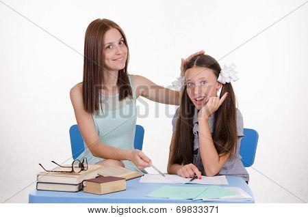 Teacher And Student Decide To Homework