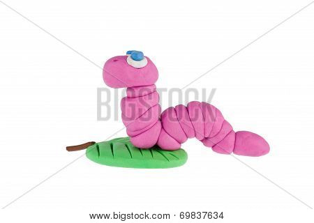 Earthworm From Plasticine