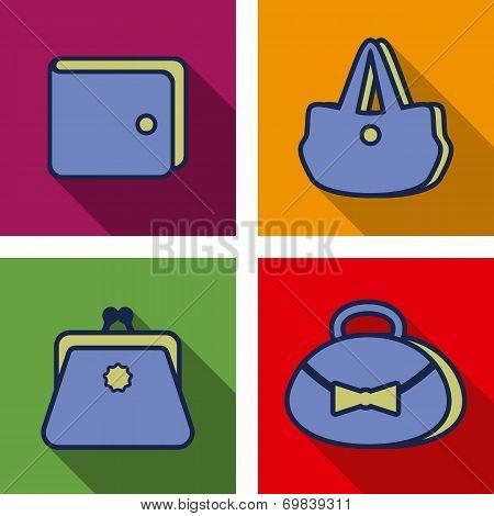 Purse Flat Icons