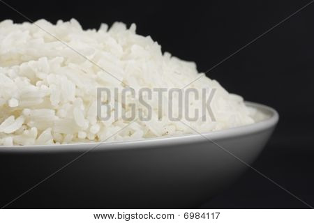 Portion Of Rice In A White Bowl