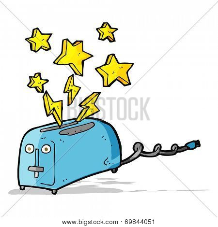 cartoon sparking toaster