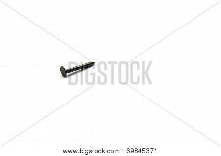 Nail Isolated On The White Background