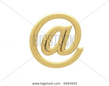 Gold E-mail Sign