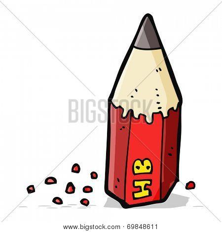 cartoon pencil stub