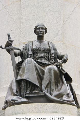 Sitting Justice with Sword.