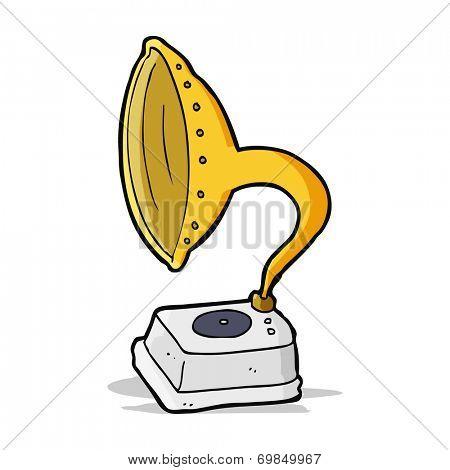 cartoon phonograph