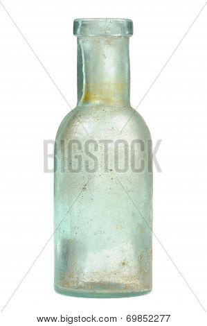 Vintage Glass Bottle Isolated On White Background
