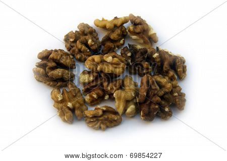 Raw Walnuts Isolated On White