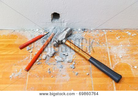Cold Chisels And Hammer