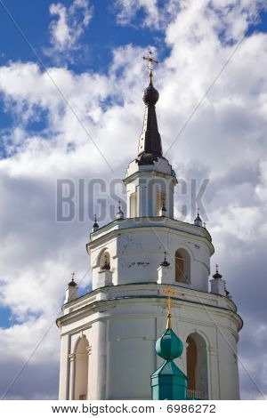 Belltower of old russian orthodox church