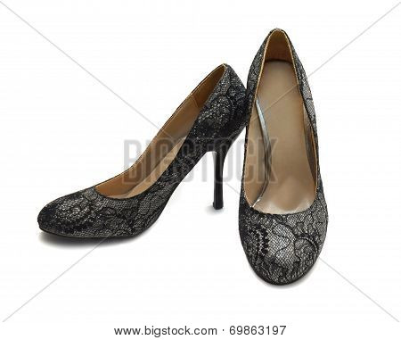 Shoes Of Silver Brocade