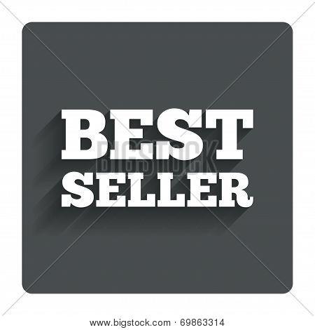 Best seller sign icon. Best seller award symbol