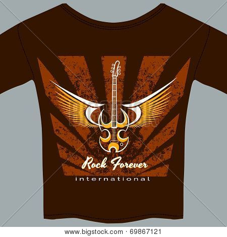 Rock fan tee shirt