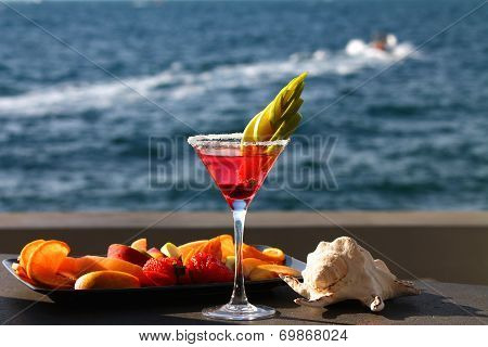 Fresh Aperitif on the beach