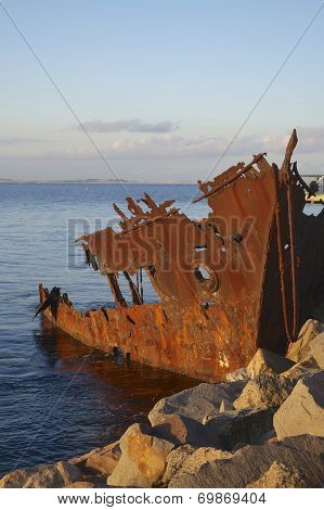 Rusty Ship Wreck