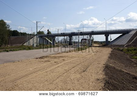 A Bridge Under Blue Sky With Clouds Of White