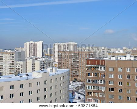 Urban Landscape. Moscow Dormitory