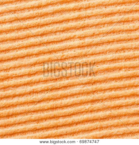 Orange Color Sponge Texture