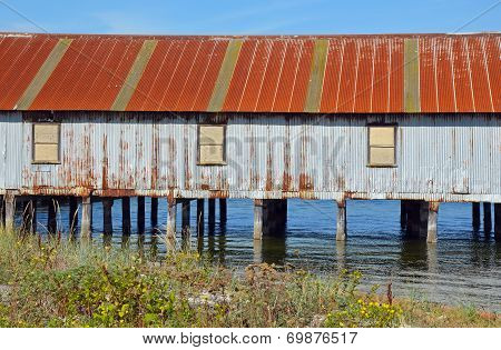 Old Weathered Boathouse