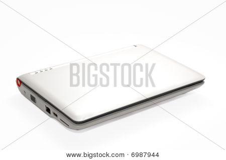 White Isolated Netbook