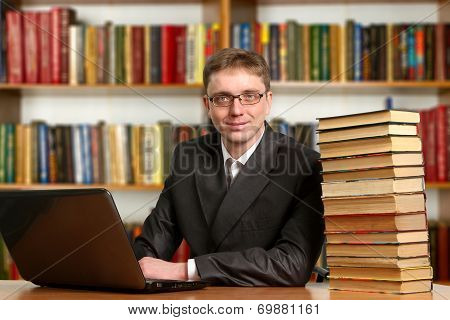 Portrait Of Clever Student