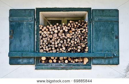Window With Firewood