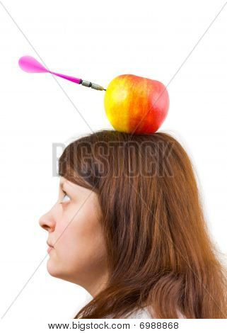 Woman And Apple With Arrow