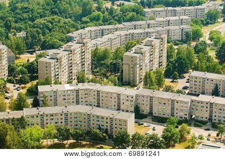 soviet era prefab houses in Lazdynai, Vilnius, Lithuania