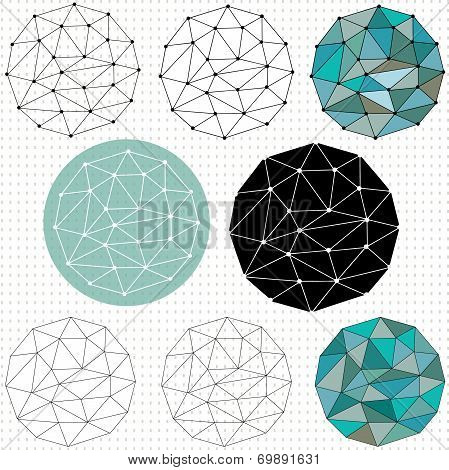 Geometric Circular Grid Shapes