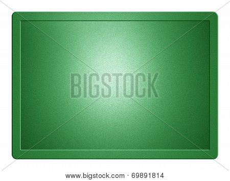Green Metallic Plate