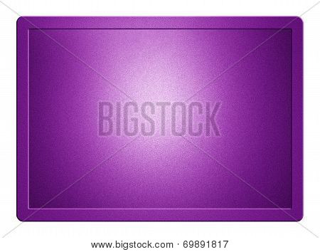 Purple Metallic Plate