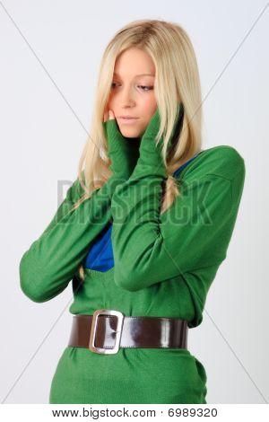 junges Mädchen posing