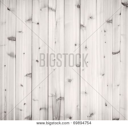 Pale light gray wood background of wooden planks showing woodgrain texture