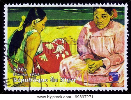Painting By Paul Gauguin, Tahitian Women On The Beach