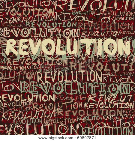 Revolution abstract background, vector